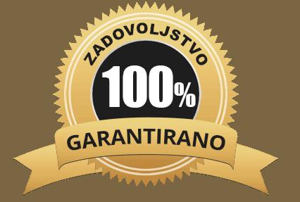 Oznaka, da za program Obnovi svoje črevesje velja 100% garancija na zadovoljstvo.